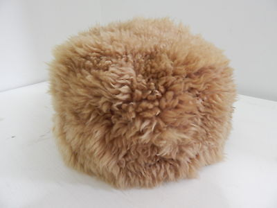 Vintage Genuine Soft Fluffy Natural Sheep Skin Shearling Hat Snow Winter