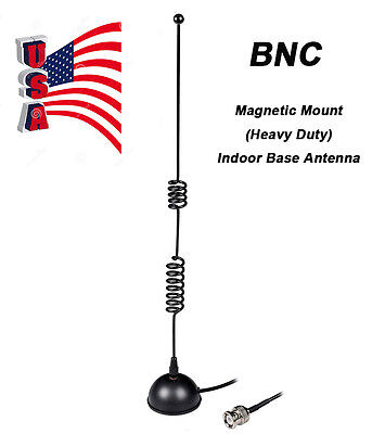 Amateur Ham Radio Dual Band 144MHZ&430MHZ BNC Magnetic Mount Indoor Base Antenna