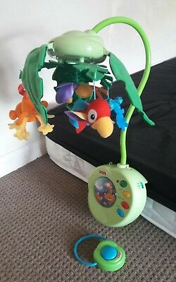 fisherprise rainforest cot mobile with remote control