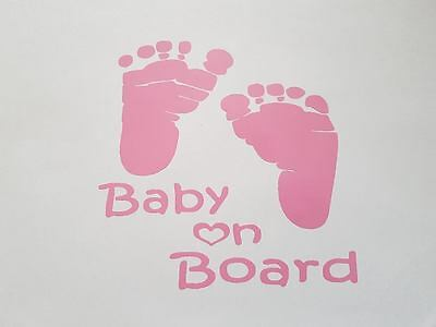 BABY ON BOARD vinyl car stickers