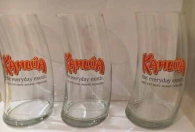 3 X Kahlua Glasses - The everyday exotic - Cocktail Barware Bent Glass