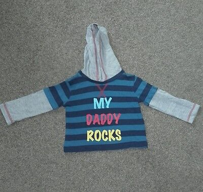 Baby boys hooded top 9-12 month bnwot