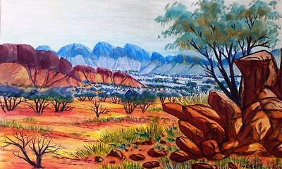 """""""authentic Aboriginal Art"""" Therese Ryder """"my Country"""" Original Watercolour"""