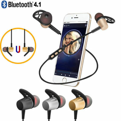 Stereo Wireless Bluetooth 4.1 Sport Headphone Earphone for Android Samsung