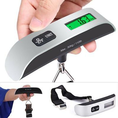 50kg/10g Weight LCD Display Portable Electronic Travel Hanging Luggage Scale DA
