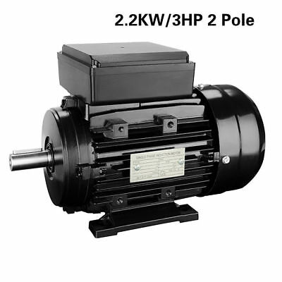 New 2.2 KW, 3 HP Single Phase Electric Motor 240V 2800 RPM 2.2KW/3HP 2 Pole UK