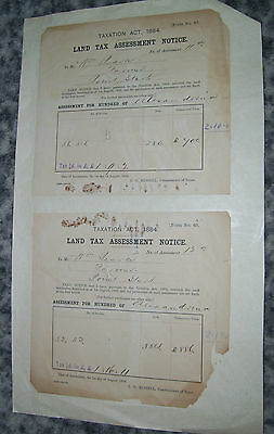 Land Tax Assessment Notice 1888
