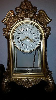 French repro mantle clock