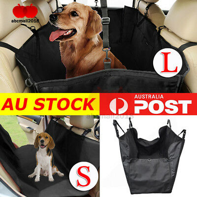 S/L Car Rear Back Seat Waterproof Cover Pet Dog Safety Mat Protector Hammock AU