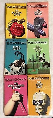 Lot of 6 ROSS MACDONALD mystery paperbacks 1983 printing