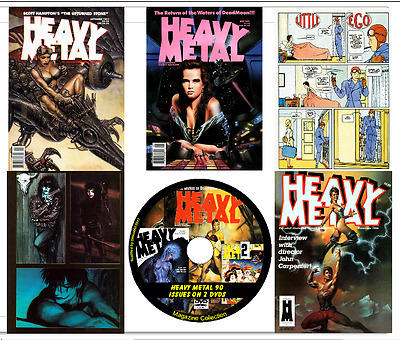 HEAVY METAL MAGAZINE 90 issues -  Illustrated Adult Fantasy  on 2 DVDs