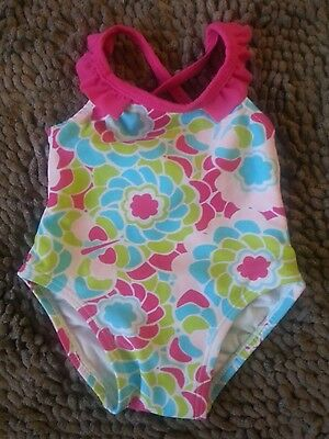 Floral Print 1pc Swimsuit*Baby Girl 6-9m*EUC