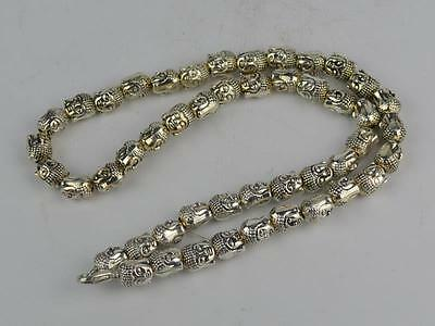 Collectible Decorated old tibet Silver Handwork Buddha Necklace