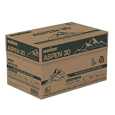 """BOISE ASPEN 30 MULTI-USE RECYCLED COPY PAPER, 8 1/2"""" x 11"""", 5000 Sheets"""