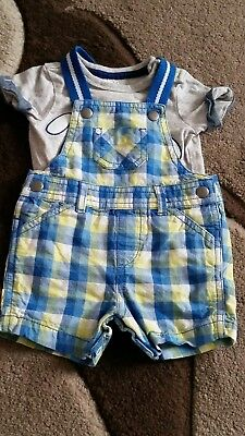 baby boys newborn dungaree and t-shirt set
