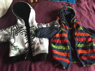 Baby Boys 3-6 Months Jumper Jacket Bundle Quicksilver And Bluezoo