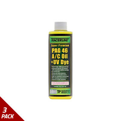 Tracer Products Super-Premium PAG 46 A/C Refrigerant Oil &  UV Dye, 8oz [3 Pack]