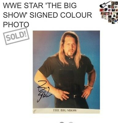 """Big Show"" Wrestling WCW Star 90's-2000's  Signed Photo Authentication Cert"