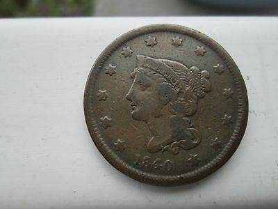 1840 Small Date Large Cent