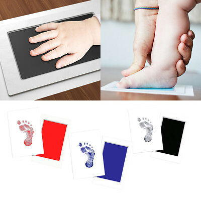 1xNewborn Footprint Ink Pad Handprint Non-Toxic Clean-Touch Pearhead Inkless HOT