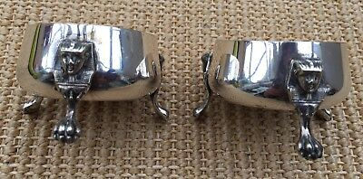 PAIR OF EGYPTIAN REVIVAL SILVER PLATED ANTIQUE SALTS c.1880