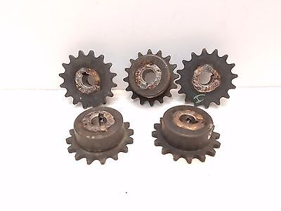 Lot of 5 Martin 35B16 1/2 Sprocket #35, 16 Teeth .465 Bore  Free Shipping