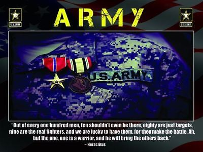 Army Warrior Poster Soldier Military Gifts Army Gifts