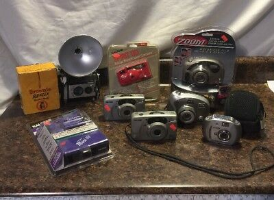 Camera Lot Of 8 Kalimar Mini 110 Camera/Looker Combo Brownie Reflex Argus Spirit