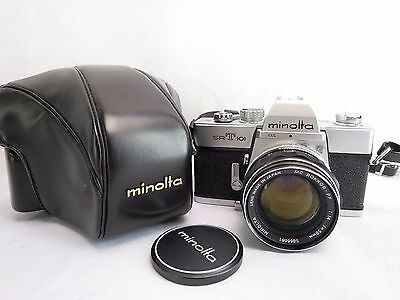 CLASSIC MINOLTA SRT101 Film Camera w/ Leather Case and Filters