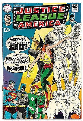 Justice League of America #72 Fine+ 6.5 Classic Kubert Cover .99 CENT SALE!