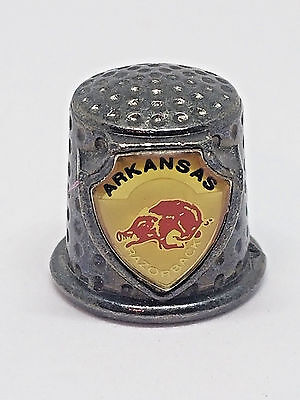 Arkansas Razorback Shield Collectible Thimble