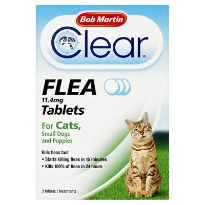 Bob Martin Flea Tablets for Cats and Small Dog Under 11 Kg, 3 Tablets!