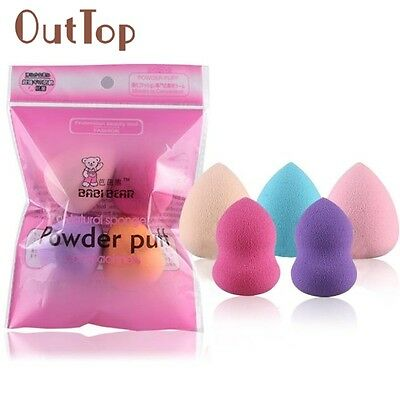 Beauty Girl 5PCs Multi Shape Makeup Puff Pro Beauty Flawless Makeup Blender Foun