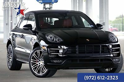 2015 Porsche Macan Turbo 2015 Black Turbo Premium Plus Warranty