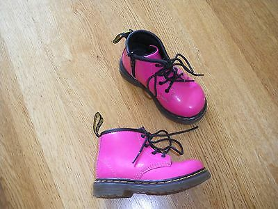 Dr Marten cute patent leather  pink infant boots size UK 5