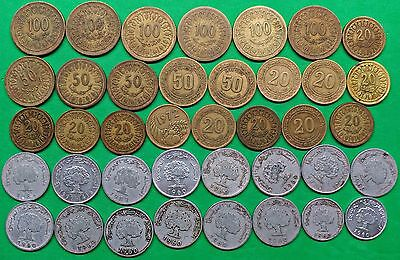 Lot of 39 Republic of Tunisia Coins U-Date Vintage Arab North Africa French !!