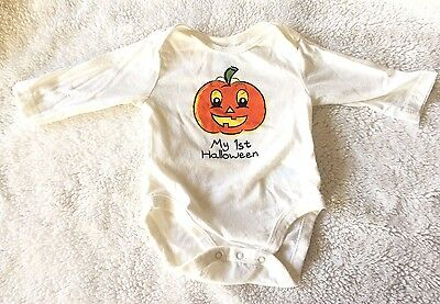 Children's Place My First Halloween LS Baby Bodysuit Unisex Size 0 3 Months