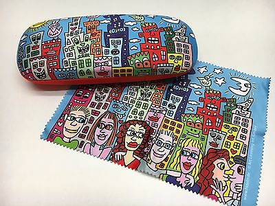 James Rizzi Brillenetui mit Putztuch My New York City Brille Etui Neu 1.Wahl