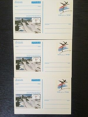 Lot Of 3 Old Israel Postcards 1998 Haifa- Olimpic Games Rare Vintage Collectible