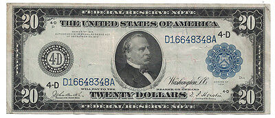 U.S. - Series of 1914 $20.00 Federal Reserve Note