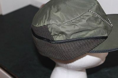 Boys Mens Vintage Army Green Cap Hat NOS 50s 60s