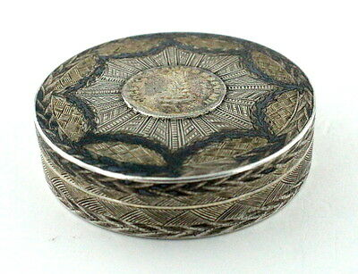 VINTAGE ANTIQUE RUSSIAN IMPERIAL SILVER-GIFT SNUFFBOX 1790 c. RARE !!!