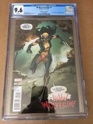 ALL NEW WOLVERINE #1 (2016) CGC 9.6 Variant Cover 1st X-23 As Wolverine