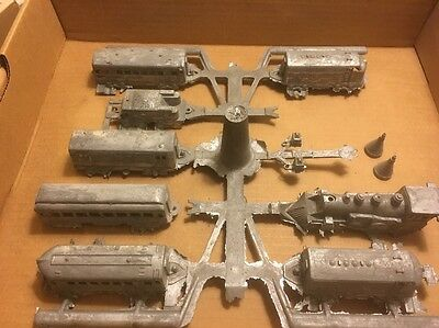 AMAZING Complete RARE Midgetoy Train Set Steampunk Industrial Art Casting Mold !