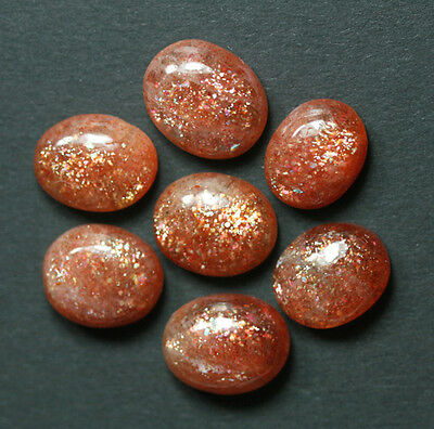 1Sunstone Cabochon Oligoklas Sonnenstein 11x13mm 6,0Ct.
