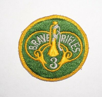 3rd Armored Cavalry Regiment Cut Edge Patch Post WWII US Army German Made P4712