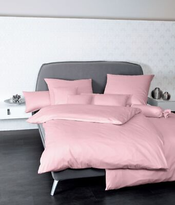 janine mako satin bettw sche 2 tlg 155x200 80x80 colors uni rosa eur 59 95 picclick de. Black Bedroom Furniture Sets. Home Design Ideas