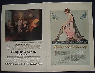 Lot  4 1923 Color Ads Holeproof Hosiery, Whiting & Davis, Pyralin, Story & Clark
