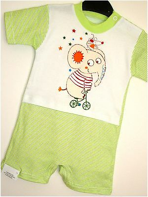 *ROMPERS*  GREEN BABY TODDLERS  0-3Months - 36Months CUTE APPLIQUE! 100% COTTON