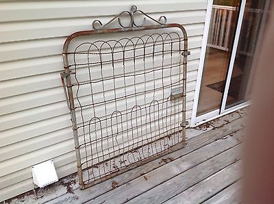 Vintage/Antique Metal Gate With Twisted Wire
